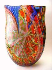 UNIQUE 1/1 XXL MURANO GLASS VASE BATTUTO GLASS MASTER AMEDEO ROSSETTO SIGNED
