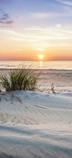 Sugar white sand and a beautiful sunset.
