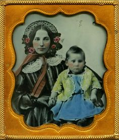 Divinely Tinted Ambrotype of Angelic Mother and Child Housed in Fine Union Case! in Collectibles, Photographic Images, Vintage & Antique (Pre-1940), Ambrotypes | eBay