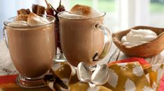 hot chocolate, food and drink, fall October Fall, Mini Marshmallows, Beverages, Drinks, Hot Chocolate, Food And Drink, Pudding, Treats, Smoothie
