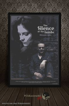 The SILENCE of the LAMBS - cult / classic alternative movie poster / print [ Jodie Foster Anthony Hopkins  Thomas Harris Hannibal Lecter ]