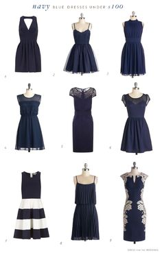 Cute navy dresses for wedding guests under $100!