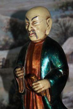 Escultura de Sabio Chino, Antigua Escultura Asiática, Estatua Chino, Antigua Estatua Escayola, Escultura Oriental 50s Asian Sculptures, Oriental, Estilo Art Deco, Plaster, Buddha, Vintage, Sculptures, Stone Sculpture, Cherubs