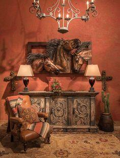 Rustic, western home decor has a special place in the hearts of many. Adobe Interiors is changing the. Western Bedroom Decor, Rustic Western Decor, Country Decor, Western Bedrooms, Western Furniture, Rustic Furniture, Furniture Ideas, House Paint Interior, Interior Doors