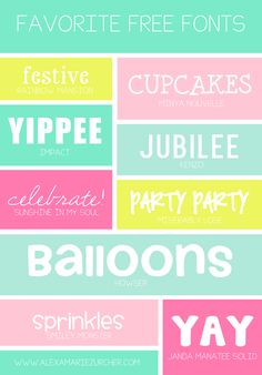 Favorite Free Fonts | Part Three  ~~ {9 free fonts w/ links}