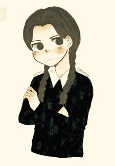 Tried to draw Wednesday Addams (and yeah the Addams family are soo cool)