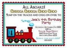 Train Invitations Train Locomotive Choo by LittlebeaneBoutique, $1.59