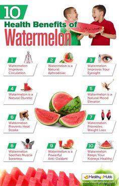 10 Amazing Health Benefits of Watermelon healthyhubb.com/... #health #holistic #natural #vitamins #vitaminC #L4L #animals