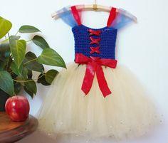 Snow White Crochet Tutu Dress