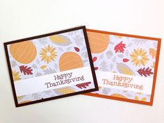 Happy Thanksgiving Card Set - Harvest Fall Card - Autumn Pumpkin Card - Fall Greeting Card Set - Giving Thanks Card - Thankful for You Card - pinned by pin4etsy.com