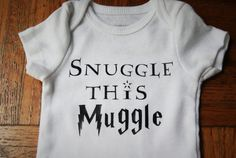 Youll definitely want to snuggle your muggle with this Harry Potter inspired baby onesie! We print our images on super soft Carters baby Little Babies, Cute Babies, Harry Potter Nursery, Baby Time, Our Baby, Baby Baby, Onesies, Baby Onesie, Funny Onsies