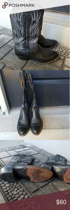 Nocona Black Cowboy Boots Great pre owned condition Nocona Shoes Cowboy & Western Boots