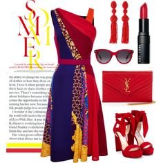 How To Wear Bright Summer Nights Outfit Idea 2017 - Fashion Trends Ready To Wear For Plus Size, Curvy Women Over 20, 30, 40, 50