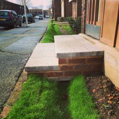 Grass channel at Renfrew Close raingardens, London.  By Robert Bray Associates.
