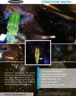 Kosmiczne zestawy połączone z Żyrandolem Światłowodowym Łamanym tworzą ciekawą aranżację.