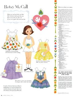 Betsy McCall - Things that make my heart sing: Paper Dolls