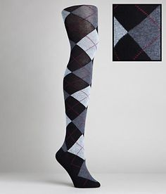 HUE argyle sweater tights. i have at least 20 pairs already... this makes me ready for fall... my favorite season!