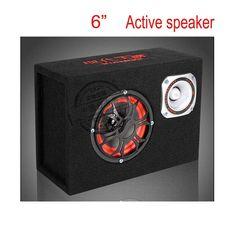 New arrival 6 inch 12v 220v car audio hifi portable active speakers KTV boom box stage