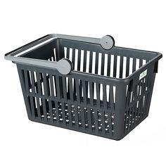 Einkaufskorb Recycling anthrazit von Stöckli Plastic Laundry Basket, Recycling, Gadgets, Organization, Home Decor, Getting Dumped, Shopping, Household, Getting Organized