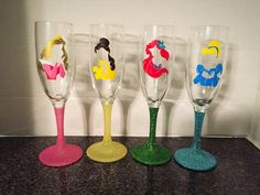 Hey, I found this really awesome Etsy listing at https://www.etsy.com/listing/287080873/disney-princess-champagne-glass