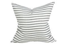 Perfect Stripe Gray Pillow || Studio McGee Home Collection
