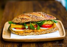 Vegetarian sandwich looks yumming