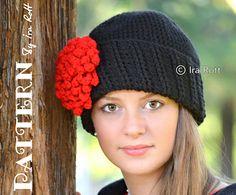 Parisian Dahlia beanie free crochet pattern