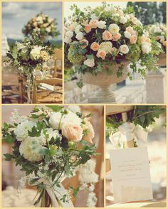 Love the greenery, really adds to the romantic, vintage feel.