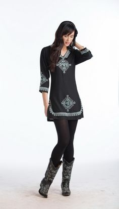 100% Rayon Notch Neckline Flared Sleeves Lavish embroidery front & back necklines & sleeves