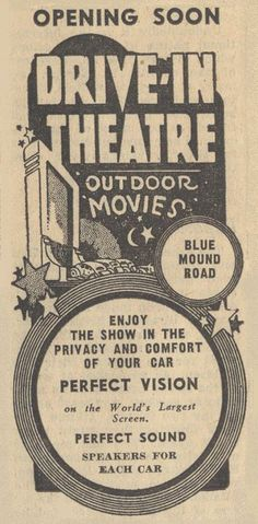 Outdoor movies....how I miss these.  Why don't they do them?  Especially today with the great screens?