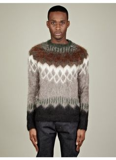 Men's Knitted Jumper I like these colours together