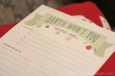 Check out this cute Free Christmas Wish List Printable by @thewonderforest! Perfect for the kids! #christmas #santa