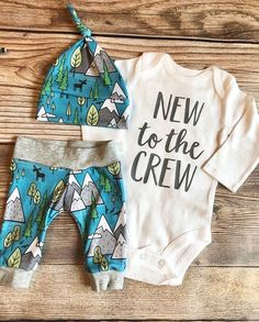 New to the Crew Blue Mountain Coming Home Outfit Going Home Outfit mountain Camping Adventure Baby boy outfit camping outfit Newborn Coming Home Outfit, Going Home Outfit, Baby Outfits Newborn, Baby Boy Outfits, Outfits For Teens, Camping Outfits, First Time Moms, Future Baby, Baby Names