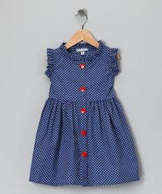Sold out on Zulily, but I bet I could do something similar for much less $! French Blue Polka Dot Picnic Dress
