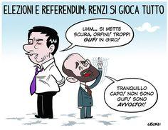 Il Referendum costituzionale ...e gli avvoltoi che volteggiano... #IoSeguoItalianComics #Satira #Politica #Comics #Humor #Italy #Elezioni #Comunali #Roma #Referendum #gufi #Rome #Renzi