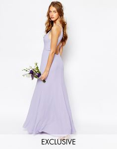 Image 1 ofFame and Partners Nevada Maxi Dress with Fishtail and Keyhole Back
