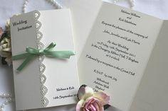 stampin up wedding invitations   Beautiful Elegant Handmade Wedding Invitations with decorative edge ...