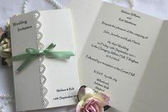 stampin up wedding invitations | Beautiful Elegant Handmade Wedding Invitations with decorative edge ...