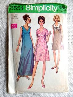 Simplicity 8554 Vintage Sewing Pattern by momandpopcultureshop