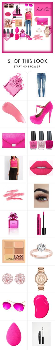 """Pink Flirt"" by veronika-nikkie-hajtmankova on Polyvore featuring beauty, Bobbi Brown Cosmetics, Ted Baker, Hourglass Cosmetics, Loeffler Randall, OPI, Charlotte Russe, Marc Jacobs, NYX and Emilio!"