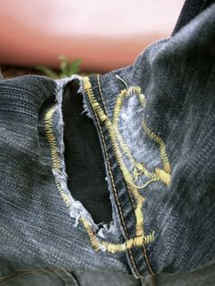 How to Fix the Crotch Hole in Your Jeans. For my favorite jeans that are perfect except for those pesky holes!
