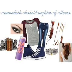 This is a combo of my favorite books. Percy Jackson outfit with a Harry Potter bracelet and a bow and arrow for Hunger Games! Cute Outfits With Jeans, Jean Outfits, Pretty Outfits, Cool Outfits, Fashion Outfits, Percy Jackson Outfits, Fandom Fashion, Fandom Outfits, Casual Cosplay