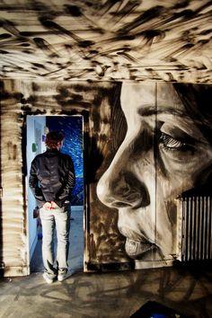 [  http://pinterest.com/toddrsmith/boards/  ]  - Woman face by David Walker. Tour Paris 13. Paris. - [  #S0FT  ]