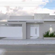 Home Gate Design, House Outside Design, Home Building Design, Home Design Plans, Door Design, Modern Small House Design, Modern House Plans, Small Modern Home, Gate House