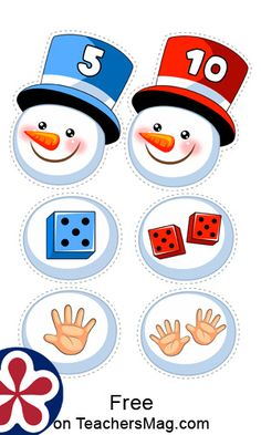 These free printables are a wonderful way to work on developing counting and matching skills regarding numbers. Winter Activities For Kids, Winter Crafts For Kids, Math For Kids, Crafts For Kids To Make, Eyfs Activities, Preschool Themes, Maths Paper, Grande Section, Number Matching