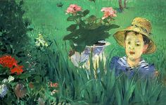 Edouard Manet Boy in the Flowers 1876