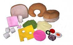 Amikor játék az étel… A kislányok egyik legkedvesebb játéka a főzős játék.Az általam gyártott és forgalmazott ételek előnye,hogy nem baleset veszélyesek mint a fa játékok és az alakjukat is megtartják -szemben a műanyag játékokkal. Puha... Fa, Pillows, Desserts, Tailgate Desserts, Deserts, Postres, Dessert, Cushions, Pillow Forms