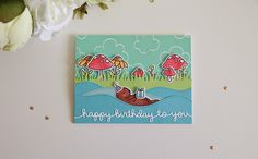 Unify Handmade: Lawn Fawn March 2015 Inspiration Week - Year Five, Happy Birthday Border Die