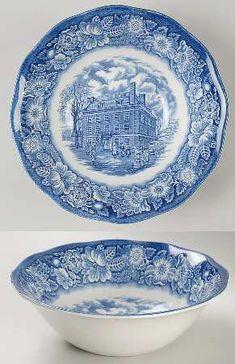 "Staffordshire Liberty Blue 8"" Round Vegetable Bowl"