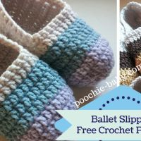 Women's Crochet Ballet Slippers: free quick and easy to make pattern